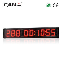 dia do temporizador venda por atacado-[GANXIN]5 inch 9 Digits Outdoor Use Waterproof Red Color Digital LED Day Timer with 999 Days Countdown and Countup