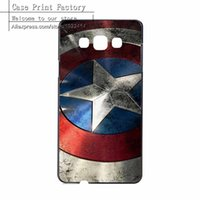 Wholesale S3 Captain America - Wholesale-Marvel Hero Captain America Hard Plastic Case Cover For Samsung Galaxy S3 S4 S5 Mini S6 Edge Plus Note 2 3 4 5 A3 A5 A7 A8 J1 J5
