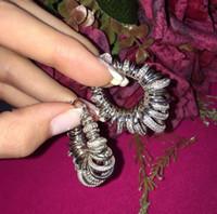 Wholesale Creating Flowers - Luxury CZ Zircon Vintage Tassel 925 Sterling Silver Dangle Earring women bridal wedding earring K*O A*P Created Diamond