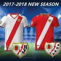 Wholesale White Miku - 2017-18 Rayo Vallecano Jersey Camisetas De Futbol Camisetas De Futbol Kakuka Abdoulaye Bueno Miku Baptistao Manucho Shirts Rugby Wholesale