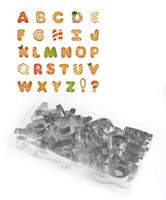 Wholesale Cake Alphabet Letters - 26pcs set DIY Biscuit Cake Mold Cutter Letters Alphabet Shape Mould Fondant Cookie Cake Mold Cutter