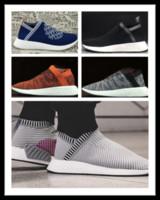 Wholesale Popular Cities - zapatillas hombre deportiva men NMD City Sock 2 Primeknit Shock mid-top casual sneakers Shoes For Men And Women Training Sneaker Popular