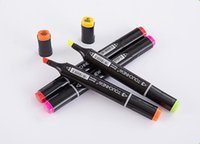 Wholesale Touch Markers Color Pen - 36 colors touch six black art marker drawing micron pen water color pen lunch liner pen touchnew twin art white shell