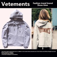 Wholesale Cotton Sportswear For Women - Vetements Hoodies For Men Sweatshirt Men Hip-Hop Street Dance Casual Sport Sweatshirt Sweatshirt Men Woman Alphabet Hoodies Sportswear Gray