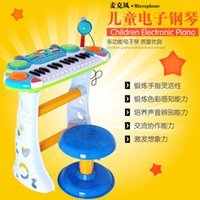 Wholesale Electronic Male Toys - Children toy electronic piano beginner instrument standard 3 years old male girl piano enlightenment education