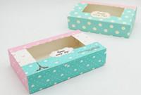boîtes à cadeaux de pâtisserie achat en gros de-Mignon Eiffel Tower vert boîte d'emballage pour 4 / 6pcs 80g Mooncake boîte de pâtisserie Emballage alimentaire Boîte-cadeau en gros, cookies boîte 2 tailles livraison gratuite