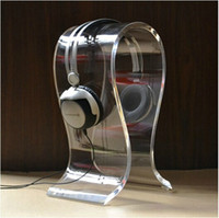 Promotion high quality~8mm thickness clear Acrylic Headphones Stand U-type Headset Holder Earphone Display Rack