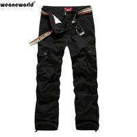 Wholesale Cargo Pant Sales - Wholesale-WEONEWORLD 2016 Hot Sale Plus Size 30-44 Men's Cargo Pants Casual Mens Pant Multi Pocket Cargos Trousers Men Long Pant