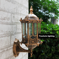 Wholesale Wall Sconce Light Bronze - Wholesale-Bronze antique brass IP65 luxary American European outdoor sconce vintage classical waterproof wall light outdoor wall lamp