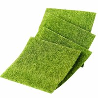 Vente en gros - Peluches artificielles Miniature Garden Ornament Fake Grass Figurine Craft Plant Pot Fairy Decor 15x15cm / 30x30cm