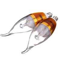 Wholesale High Power Led Candelabra Bulbs - Big Promotion E12 3 LED High Power Candelabra Chandelier Candle Lights Pure White Warm White Lamp Bulb 85-265V