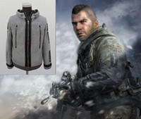 Wholesale Modern Jacket Men - Task Force Hoodie Jacket Modern War Ghost Hoodie Jacket Cosplay Costume TF 141 High Quality Gift