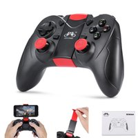 Gen Game S6 Wireless Bluetooth Gamepad Vibração Joystick Gaming Controller para Android IOS Smartphone PC TV com titular