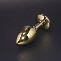 Wholesale Golden Stainless Steel Butt Plug - Adult Products Golden Color Metal Butt Plug, Stainless Steel Anal Plug Sex Toys for Men Women