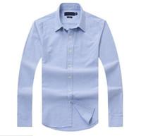 se adapta a la ropa al por mayor-Nuevas ventas famosas costumbres aptas Camisas informales Popular Golf Negocios de bordado Caballos Camisas de manga larga para hombres