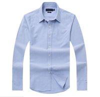 erkek monte polo gömlekler toptan satış-Yeni satış ünlü gümrük fit Casual gömlek Popüler Golf At nakış iş Polo gömlek erkek uzun kollu Giyim
