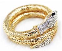 Wholesale Vintage Diamond Bracelets - Wholesale-Fashion Vintage Nightclub Alloy Bracelets & Bangles Punk CZ Diamond Multi-strand Snake bracelets For Women And Men Jewelry FB38