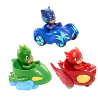 personagens de desenhos animados de ação venda por atacado-Personagens de Desenhos Animados Pj Mascarado Catboy Owlette Gekko Manto Brinquedos Conjunto de Carro PjMasksed Toy Action Figure Model