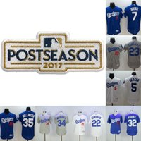 Wholesale Cheap 42 - 2017 Postseason Dodgers Jerseys Cheap Mens 5 Corey Seager 7 Julio Urias 22 Clayton Kershaw 32 Sandy Koufax 35 Cody Bellinger 42 Robinson