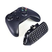 xbox one video games venda por atacado-2.4G Mini Sem Fio Blutooth Jogo Messenger Chatpad Texto Teclado Pad Para Xbox um Controlador de Jogos de Vídeo Com Embalagem de Varejo