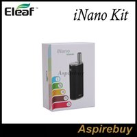 Wholesale E Cigarette Battery Connector - Eleaf iNano Kit 650mAh iNano Battery with 0.8ml iNano Atomizer Innovative Magnetic Connector On-the-go Kit Tiny E-cigarette Kit Original