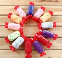 Wholesale Holiday Towel Cakes - Valentine's Day event creative small gift wedding favor gift cake towel color candy gift free shipping