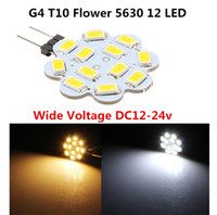 Wholesale G4 Boat Light - RV boat marine led G4 T10 921 194 W5W Wedge 12 5630 SMD LED crystal chandilier Lamp Light White