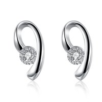 Wholesale Earring Accesories - Letter B stud earrings for women accesories cubic zironia silver plated earrings wedding engagment party Valentine's day gift