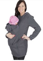 Wholesale Worsted Coat For Women - women Clothing Carrying Worsted Baby Carrier Hoodie Kangaroo Coat&Jacket for Mom and Wearing Hoodie Maternity Sweater