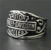 Wholesale Wholesale Stainless Steel Mens Rings - Size 7-14 Mens Womens 316L Stainless Steel Jewelry Silver Golden Band New Biker Ring Good Quality Special New Biker Ring