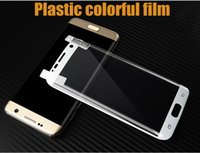 Wholesale Cheapest Note Screen - silk printing colorful 3D curved clear plastic screen protector film for S6 edge plus plastic film For Note 8 S8 Plus S7 edge Cheapest