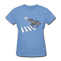 weiße t-shirts frauen großhandel großhandel-T-Shirt der Großhandelsfrauen und Zebrastreifen 3D Zebrastreifen T-Shirt Komfort 100% Baumwolle 100% Multicolors Schwarzweiß