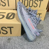 Wholesale Wholesale For Sports Shoes - 2017 Originals SPLY 350 V2 Boost Beluga 2.0 Grey Bold Orange AH2203 Kanye West Running Running Shoes for Men Sports Sneakers Women with Box