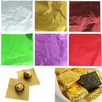 Wholesale Christmas Wrappers - 100Pcs Cute Candy Sweets Package Foil Paper Chocolate Lolly Foil Wrappers E00010 SMAD