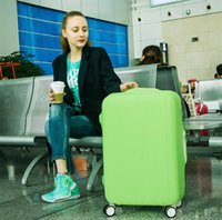 Wholesale Wholesale Travel Trolley - 8 Colors 3 Sizes 18-30 Inch Luggage Covers Protective Suitcase cover Solid Bag Cover Trolley case Travel Luggage Dust Fexible cover