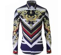 Wholesale Slim Fit Designer Shirts Sale - Free shipping New Mens Designer Brand Long sleeve plus size Shirt Men's Slim Fit big size Shirts For Men Clothing Hot sale