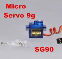 helicópteros rc de alta calidad al por mayor-Al por mayor-Alta calidad mini Micro SG90 9g Servo para accesorios de helicóptero parte del aeroplano del coche de RC
