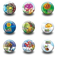 Wholesale Plants Vs Zombies Party - 18PCS Plants VS Zombies Badges Cartoon Round Buttons Pin Badges 30MM Round Accessories Badges Party Favor Kid Gift Clothes Bag Accessories