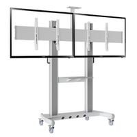 "Wholesale Plasma Screens Tv - Heavy Duty Dual Screen TV Mobile Cart NB AVT1800-60-2A 40""-60"" LED LCD Plasma TV Trolley Stand With AV Shelf And Camera Holder"