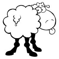 ingrosso nuove decalcomanie auto carine-New Funny Sheep Car Styling Carino Farm Animal Car Sticker Bumper Decal Cover decorativa Jdm