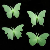 Neue Best Best Promotion 4Pcs Glow In The Dark Schmetterling Fluorescent Abziehbild-Kunst-Wand-Aufkleber Kid Home Decor