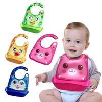 Wholesale Baby Bibs Free Shipping - PrettyBaby Baby Kids Children Dining Bibs Silicone Foldable Burp Apron Baby Feeding bibs Easy to Clean free shipping