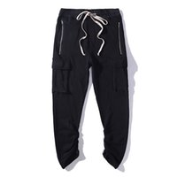 Новая мода Kanye West Joggers брюки Sweatpants Harem Pants Men Hip Hop Swag Slim Fit Skinny high street Grey Black M-XL