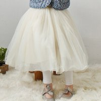 Wholesale Long Skirts Girl Fashion - Spring summer girls lace tulle skirts Children baby kids lace princess long skirts fashion all-match skirt children clothing A8368