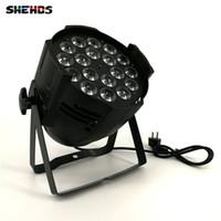 par 64 bühnenlicht großhandel-Aluminiumlegierung LED Par 18x12W RGBW 4in1 LED Par kann Par 64 führte Scheinwerfer DJ Projektor Wash Beleuchtung Bühnenbeleuchtung