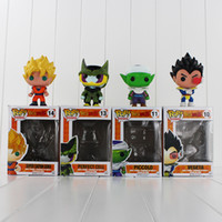 Wholesale dragon ball son goku - FUNKO POP Dragon Ball Z Son Goku Vegeta Piccolo Cell PVC Action Figure Collectible Model Toy Retail