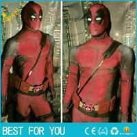 Wholesale Kids Deadpool Costumes - cosplay men adult superhero cosplay deadpool costume halloween costume onesie deadpool cosplay costume for kids