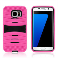 Wholesale Galaxy S3 Phone Skin Cover - Silicone+PC Robot Rugged Armor Hybrid Kickstand Cell Phone Protective Case For Samsung Galaxy S3 S4 S5 S6 Edge S7 Plus Cover Skin Shockproof