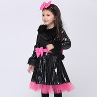 Wholesale Dress For Girl Kitty - Halloween Costumes For Kids Girls Cat Kitty Princess Catwoman Style Dress Party Cosplay Performance Children Clothes DHL free shipping
