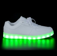 Wholesale Neon Shoes For Men - 2017 men light up led luminous shoes color glowing casual fashion with new simulation sole charge for women adults neon basket